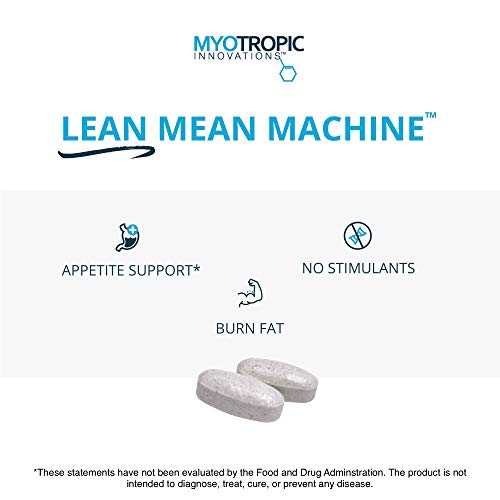 Myotropic Innovations Lean Mean Machine – 90 Vegetarian Tablets – Supports Fat & Cholesterol Metabolism, Supports Fluid…