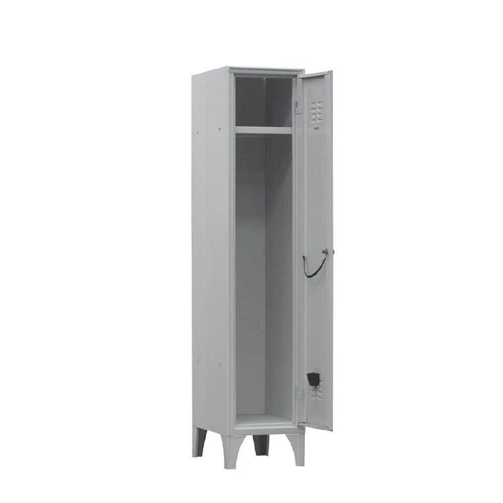Armadio spogliatoio in metallo, 1 vano, Mis. 350 L x 350 P x 1800 H mm, serratura a cilindro con chiave PACK SERVICES SRL