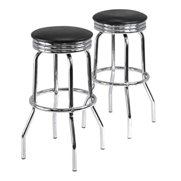 Summit Swivel Bar Stools By Winsome Furniture
