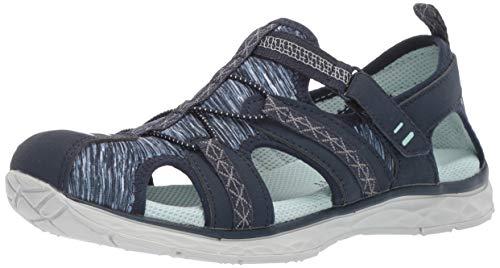 Dr. Scholl's Shoes Women's Andrews Fisherman Sandal, Navy Nubuck/Fabric, 7.5 M US (Toe Fisherman Sandal Closed)