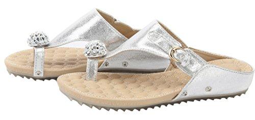con Diamante Basso Sandali Donna Zeppa Tacco EuL09 AgeeMi Fibbia Shoes argento n08U7Hqtwx