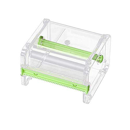 Alimao Desktop Tape 2019 New Dispenser Tape Cutter Tape Fashion Boutique Dispenser Roll Holder Storage Box Green