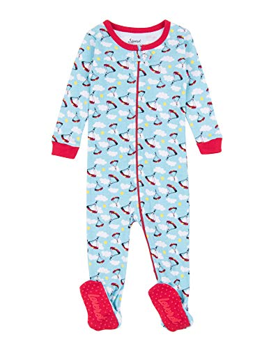 Leveret Kids Pajamas Baby Boys Girls Footed Pajamas Sleeper 100% Cotton (Parachute, Size 3 Toddler)
