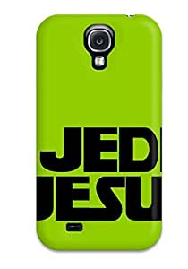Awesome OZWSXYp3616XNZnv DebAA Defender Tpu Hard Case Cover For Galaxy S4- Jedi Jesus Funny Green