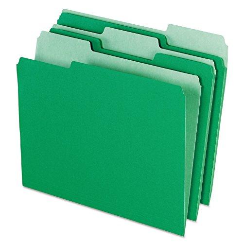 UPC 640206427982, Pendaflex Colored File Folders, 1/3 Cut Top Tab, Letter, Green/Light Green, 100/Box 1521/3BGR