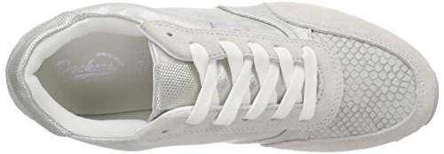 Dockers by Gerli 38ml203-207 - Zapatillas Mujer Plateado - Silber (silber/grau 552)