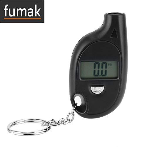 fumak Pressure Gauge - Diagnostic-Tool 3-150PSI Diagnostic Tool Digital LCD Display Keychain Tire Air Vehicle Motorcycle Car-Detector Pressure Gauge ()