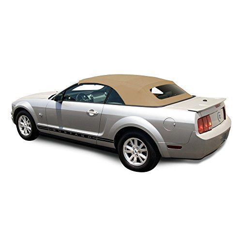 AutoBerry Ford Mustang (2005-2014) Complete Factory Style Convertible Top, Heated Glass Window in Sailcloth Vinyl - For Tops Convertible Cars