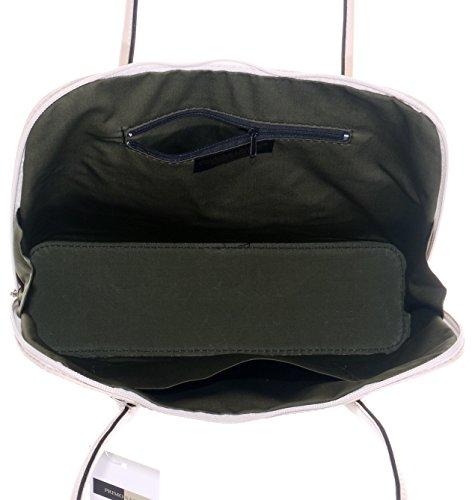 Primo en bandoulière classique protection marque Grab à de sac sac long lisse un fait de main cuir main à ou style rangement sac italien Comprend manche cabas Cassé de de à Sacchi Blanc rAfw1ztnr