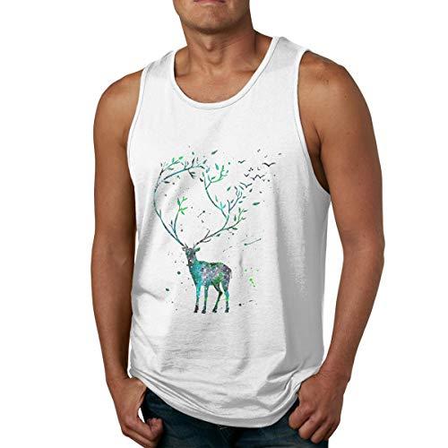 Men's Tank Tops Gym Vests Shirt Long Horned