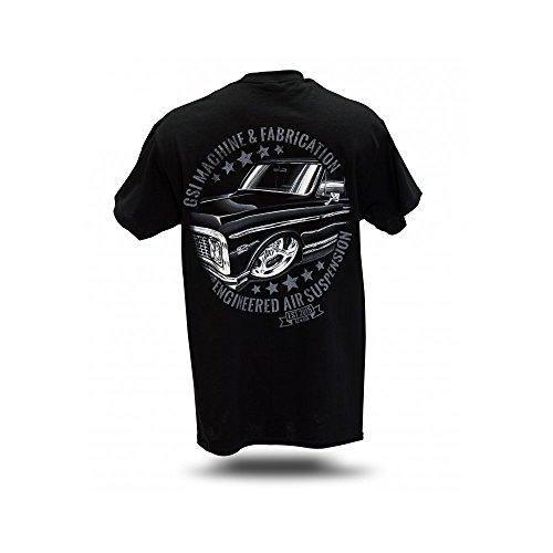 '67-72 C10 Truck T-Shirt - Men's Black Air Ride Bagged Shirt - Engineered Suspension … (XL)