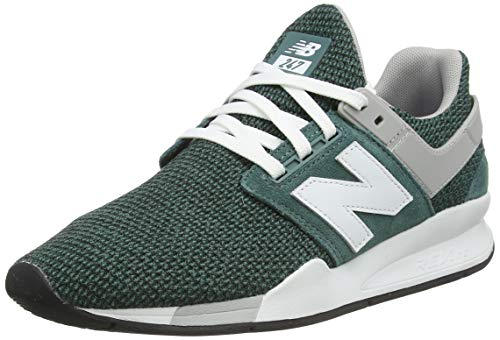 New Balance Men's 247v2 Sneaker, Dark Agave/RAIN Cloud, 14 D US