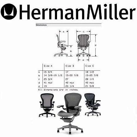 sc 1 st  Amazon.com & Amazon.com: Herman Miller Aeron Chair Large Size (C): Kitchen u0026 Dining