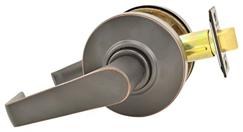 Schlage commercial AL10SAT643 AL Series Grade 2 Cylindrical Lock, Passage Function, Saturn Lever Design, Aged Bronze Finish by Schlage Lock Company