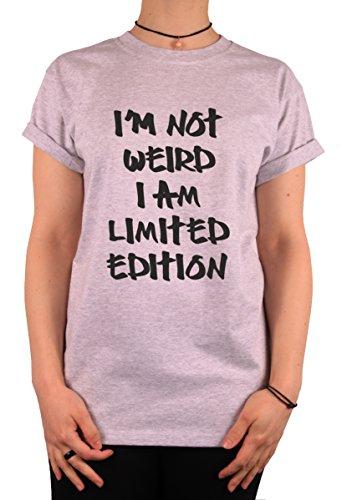 """TheProudLondon I am not weird, I am limited edition"""" Unisex T-shirt (XLarge, Heather Grey)"""