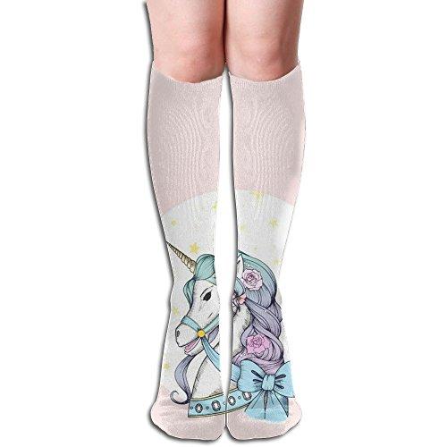 自己期限切れ大胆なユニコーンとちょう結び 3D印刷デザイン 女性の男性 秋と春 フリースタイルのデザインソックス ファッションかわいい 弾性 薄型 靴下 高校生 ティーンエージャー フォーシーズンズ