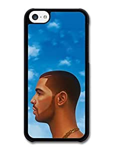 AMAF ? Accessories Drake Head Illustration Blue Sky Clouds case for iPhone 5C
