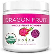 KOYAH - Organic Freeze-Dried Pink Dragon Fruit Powder (1 Scoop = 1/4 Cup Fresh): 30 Servings, (Often Called Pi