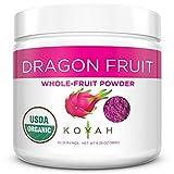 KOYAH - Organic Pink Dragon Fruit Powder (1 Scoop = 1/4 Cup Fresh): 30 Servings, Freeze-dried, (often called Pitaya), 180 g (6.35 oz)