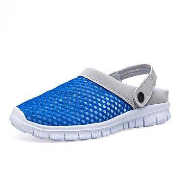 SHOES-XJIH&Zapatillas Unisex Flip-Flops par de zapatos de suela ligera tul verano otoño casual azul ligero rubor rosa fucsia Azul Gris 1A-1 3/4in,Beige,US8.5-9 / UE41 / REINO UNIDO /7.5-8 CN42