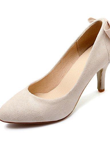 GGX/ Damenschuhe-High Heels-Kleid-Kunstleder-Stöckelabsatz-Absätze / Spitzschuh-Schwarz / Rot / Beige red-us7.5 / eu38 / uk5.5 / cn38