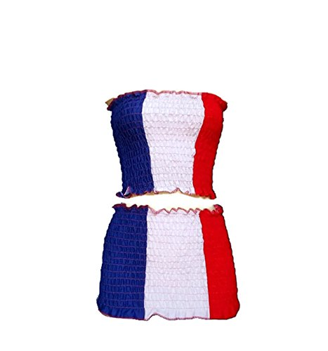 Mr France Costume - New Fashion Sexy Skirt Cotton Euro 2016 Football Team Flag (France)