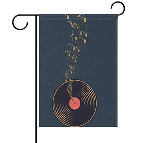 Yochoice ALAZA Vintage Vinyl with Music Note Polyester Garde