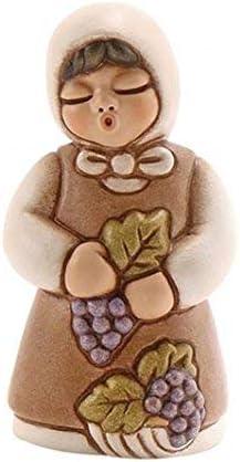 THUN® – Donna Vendemmiatrice con UVA – Versione Bianca – Statuine Presepe Classico – Ceramica – I Classici
