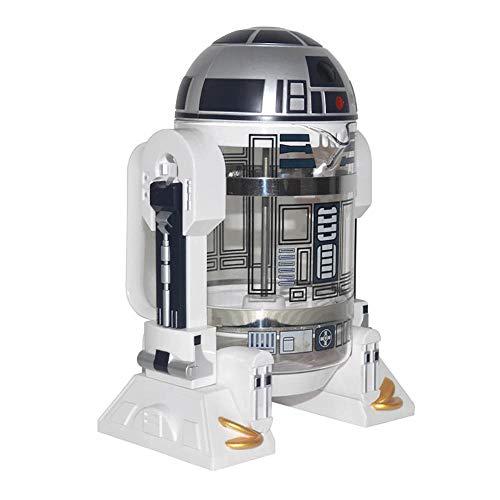 NBCDY Máquina de café Manual, cafetera Creative Robot R2D2, Mini cafetera de Filtro de Acero Inoxidable, Olla de presión…