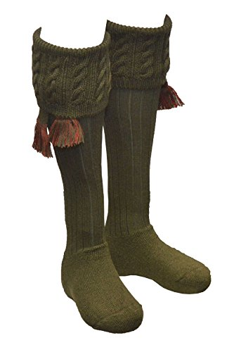 Walker & Hawkes - Chaussettes Dalkeith pour homme - chasse/campagne - garters assortis - tailles M-L 1