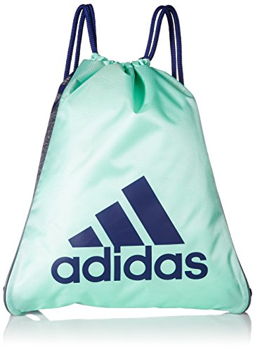 adidas Burst Sackpack, Clear Mint Green/Mystery Ink Blue/Oni