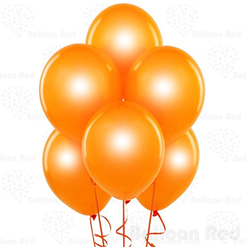 Pearl Orange 10 Inch Pearlescent Thickened Latex Balloons, Pack of 24, Pearlized Premium Helium Quality for Wedding Bridal Baby Shower Birthday Party Decorations Supplies Ballon Baloon Thinken