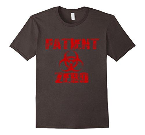 Fangirl Halloween Costumes (Mens Zombie Apocalypse Patient Zero Tshirt | Halloween Zombie 2XL Asphalt)
