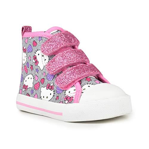 Hello Kitty Girls' Hi-Top Sneakers Toddler Grey (7 M US Toddler)