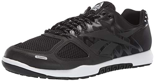 Reebok Men's CROSSFIT Nano 2.0 Cross Trainer, Black/White, 10.5 M US