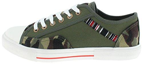 Trippel Fem Sjel Menns Brooklyn Lav Top Sneakers Olive ...