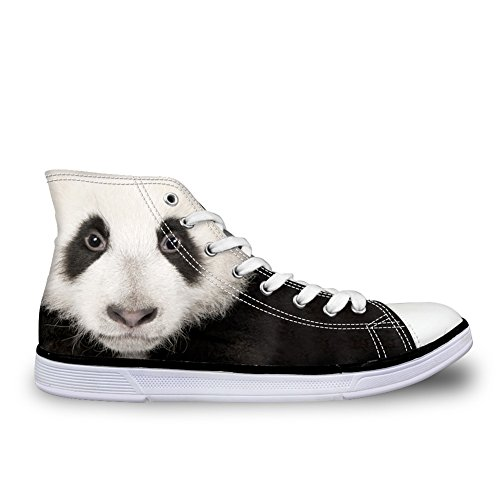 Bigcardesigns Uomo Casual Alta Cima Scarpe Di Tela 3d Animali Stringate Scarpe Da Ginnastica Panda