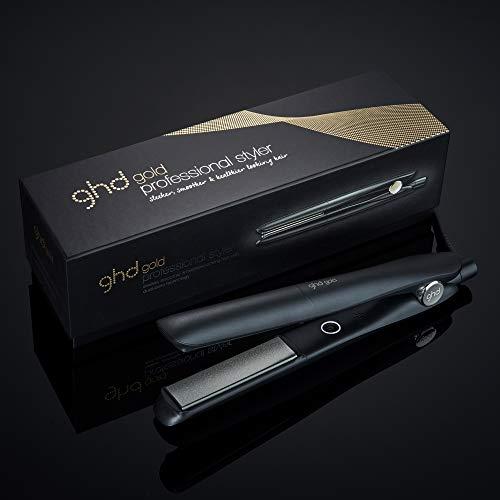 Ghd Gold Plancha De Cerámica Plana Para El Cabello Color Negro Premium Beauty