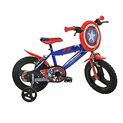 Image of Balance Bikes Dino Bikes 416U-CA 16-Inch Captain America Bicycle