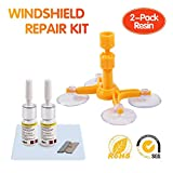 Mookis Windshield Repair Kit 2-Pack Repair Resin To Fix Car Cracks,Chips,Bull's Eye and Star