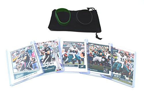 Philadelphia Eagles Football Card - Carson Wentz Football Cards Assorted (5) Bundle - Philadelphia Eagles Trading Cards