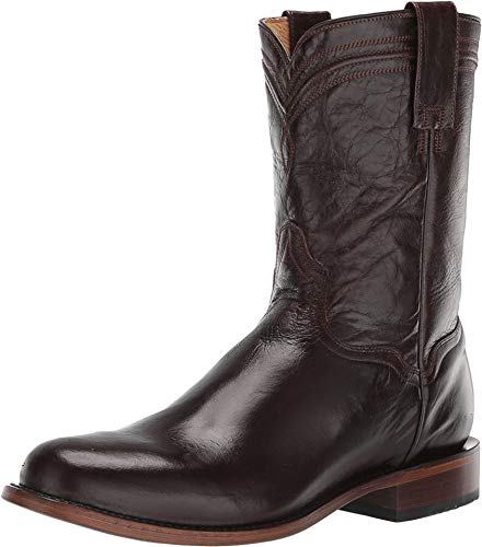 Roper Mens Marbled Brown Leather Roderick Cowboy Boots 10 D