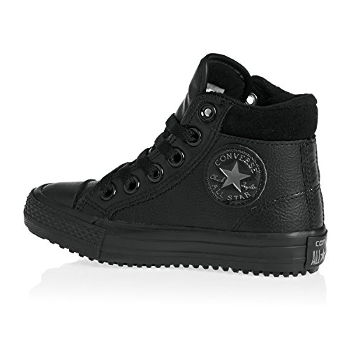 Converse Chuck Taylor All Star Weatherized Junior Black Leather Ankle Boots black/thunder