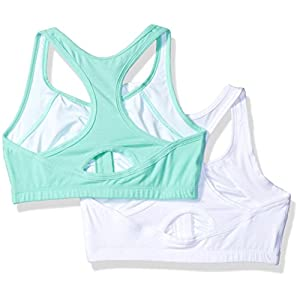Fruit of the Loom Women's Front Close Racerback (Pack Of 2), Mint Chip/White, 38