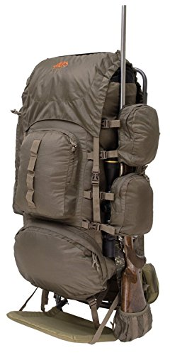 Outdoor Hunting Rifle Backpack Frame Bag Camping Hiking Fishing Travel Survival- Rugged Rip-Stop Nylon Durable Tear Resistant- Multiple Storage Pockets Rifle Holder- Hydration Port (Freighter Frame)