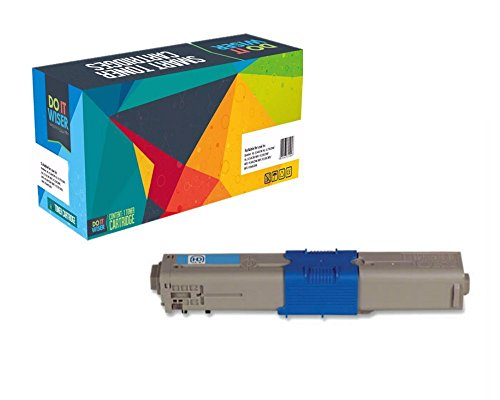 Do it Wiser Compatible Toner Cartridges for Okidata C330 C330DN MC361 C310dn C310n C510dn C530dn MC561dn C331DN C531DN MC361MFP Cyan