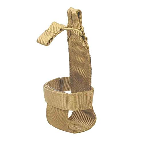 CUSHY NewTactical Molle Canteen Water Bottle Holder Outdoor Camping Hiking All-Match PortableCarrier Pouch Nylon Bag : Khaki