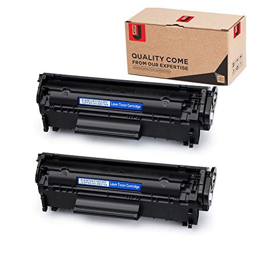 JetSir Compatible Replacement for HP 12A Q2612A Toner Cartridges 2-Pack, Use on HP Laserjet 1020 1012 1022 1010 1018 1022n 3015 3030 3050 3052 3055 M1319F Printer