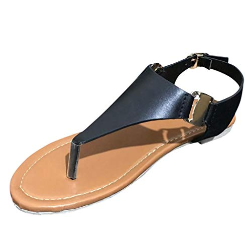 (New in Haalife◕‿¿Women Flat Sandal shes, Casual Bohemian Elastic Strappy String Thong Ankle flip Flops)