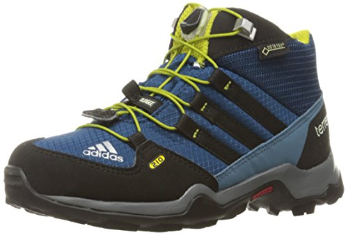 Price comparison product image adidas Outdoor Kids' Terrex Mid Gore-TEX Hiking Boot, Tech Steel/Black/Unity Lime, 13.5 M US Little Kid